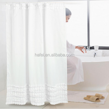 solid white curtain design new model lace shower curtain