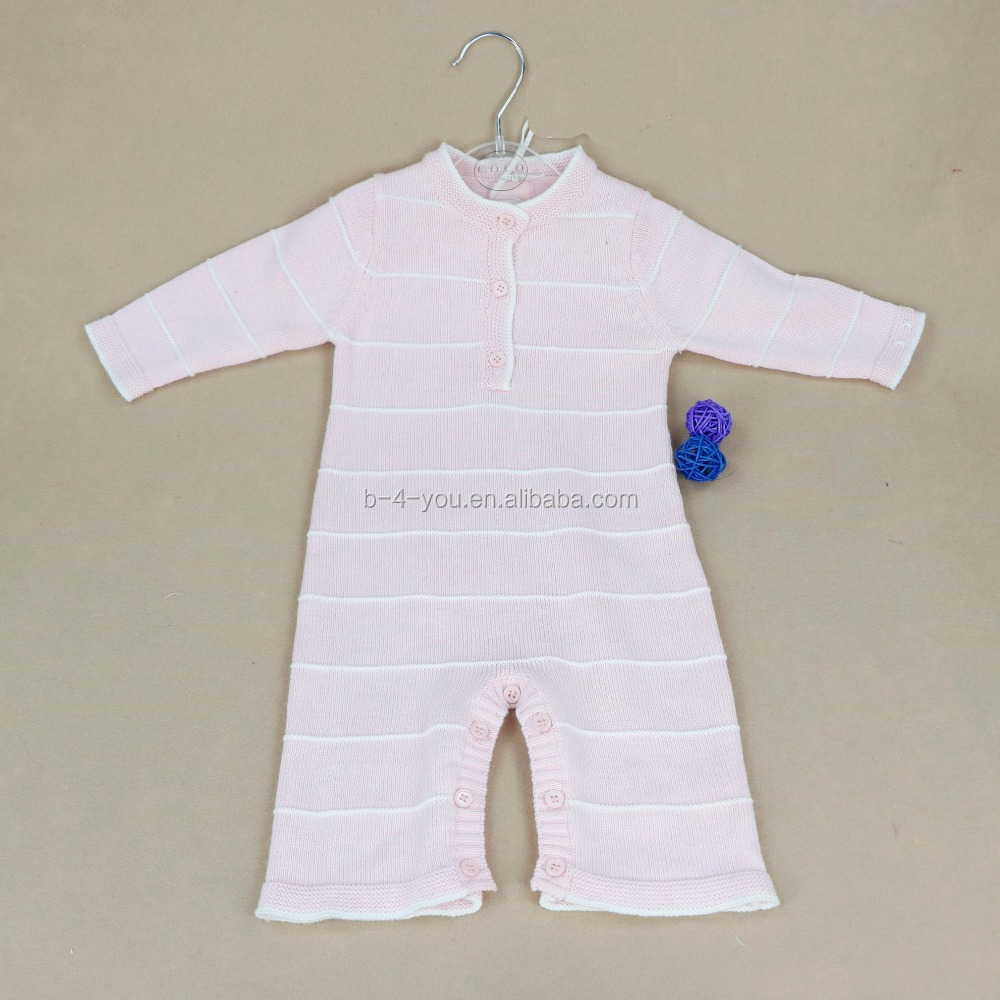 Latest kids frock designs one piece knit baby girl clothes pullover romper jumpsuit
