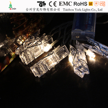 2017 Creative Design Holiday Lighting 1.65M 10 LED Card Photo Wall Clip Fairy String Lights