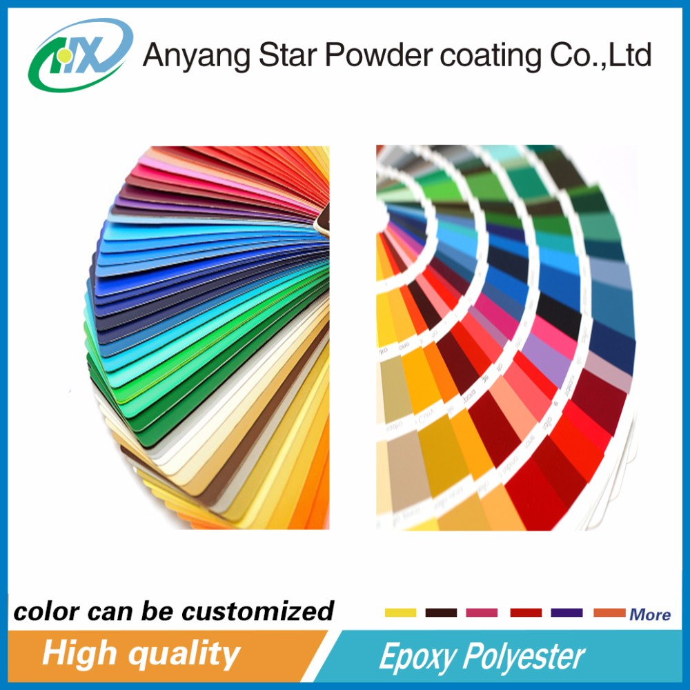 Building marble effect powder coating