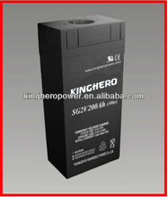 2V200AH Super Solar Power House Hard Rubber Lead Acid Battery