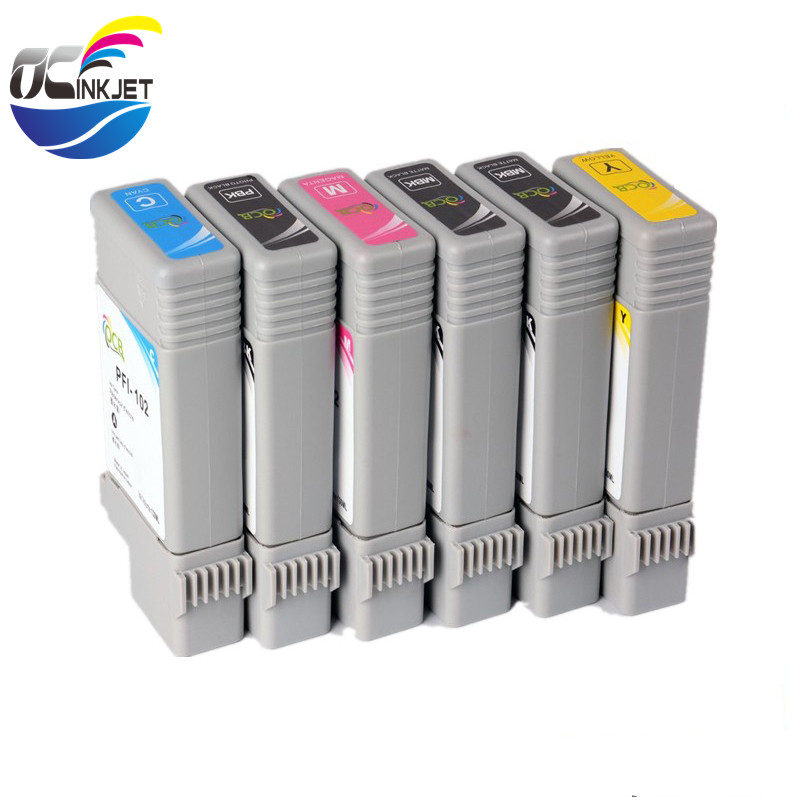 Ocinkjet 12 Colors 130ML PFI 101 <strong>103</strong> Compatible Ink Cartridge Full With Pigment Ink For Canon iPF 5100 6100 Printer