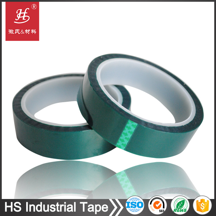 ISO9001&SGS Free Sample High Temperature PET Silicone Green Tape for PCB Plating