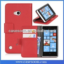 For Nokia Lumia 720 Case Leather Lumia 720 Luxury Case Cover For Nokia Lumia 720 Flip Case with Stand Function
