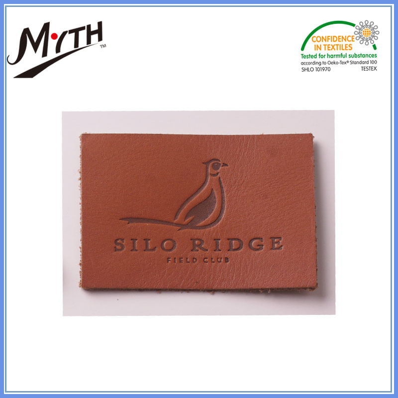 Hot sale custom leather label design logo,custom embossed leather label,clothing label tag garment and leather label