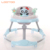 New design safety recommended usa on sale 3 in 1 plastic toy moderen collapsible baby walker with big push handle bar and tray