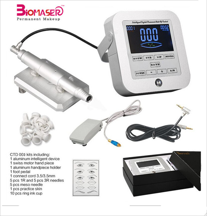Biomaser Top Quality permanent makeup machine kit for eyebrow/eyeline/lips permanent cosmetic