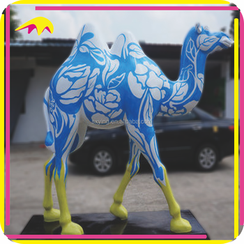 KANO6183 Artificial Fiberglass Life Size Camel Statue For Sale