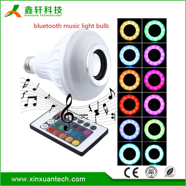 RGB E27 Wireless 7w LED Bluetooth Audio Speaker/ Music Playing Lighting Bulb Louder led lighting bulb