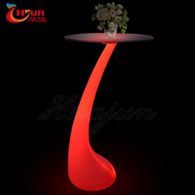 used illuminated led glass bar table led light bar table