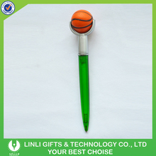 Basketball Topper Twist Type Plastic Ballpoint Pen