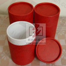 High quality red paper package boxes for empty powder puff containers
