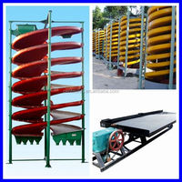 High efficiency spiral chute for beach sand with fast delivery