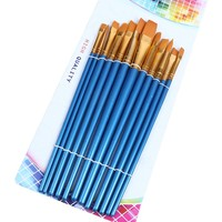 New Different Size Different Brush Head Shape Artist Paint Brush Arts and Craft Acrylic Paint Brush Wholesale Price