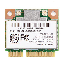 RealTek RTL8188CE Wireless 150Mbps Wifi Network LAN Half Mini PCI-E Wlan Card for Acer Asus Toshiba Dell