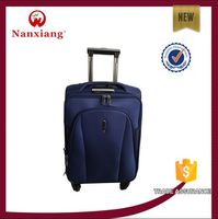soft polyester 2015 black trolley case hand carry trolley luggages
