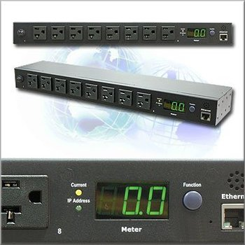8 ports 115V 15 amp PDU with snmp power meter