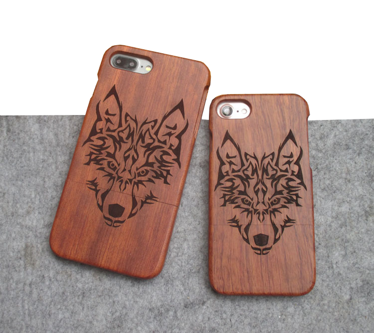 Best quality wood carvings phone case for Iphone 6 or Iphone 7 with the factory price from Shenzhen China