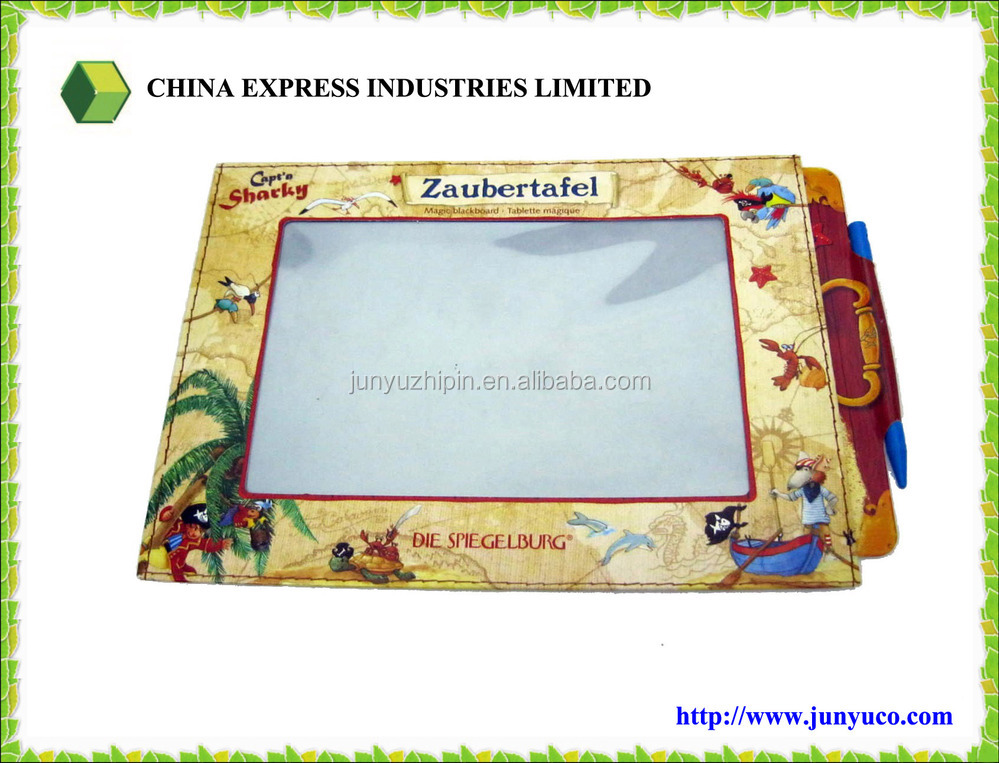 Customized Cute 13 x 19 cm Multi Color Paper Magic Writing Slate/Board for Gift