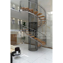 used spiral stairs centre pole spiral staircase with wood steps and stainless steel rod railing