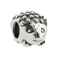 Wholesale Hedgehog Animal Bead Thai Silver Authentic 925 Sterling Silver Charm for European Bracelet