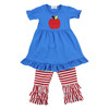 Wholesale toddler girls boutique clothing set baby girls outfit with ruffle pants american comfort persnickety 2016 fall sets