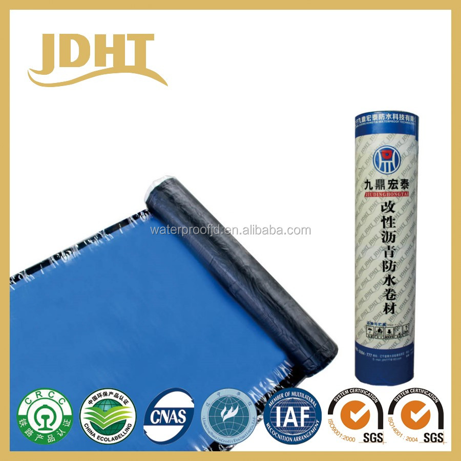 Self-adhesive polymer modified bitumen waterproof material