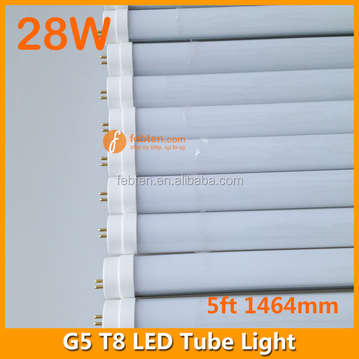 New Product 5FT 28W SMD T8 1.5m Led Tube Light in G5 Lamp Base