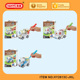 HY2613C-JKL New items 3d assembly train pull back car toy DIY paint
