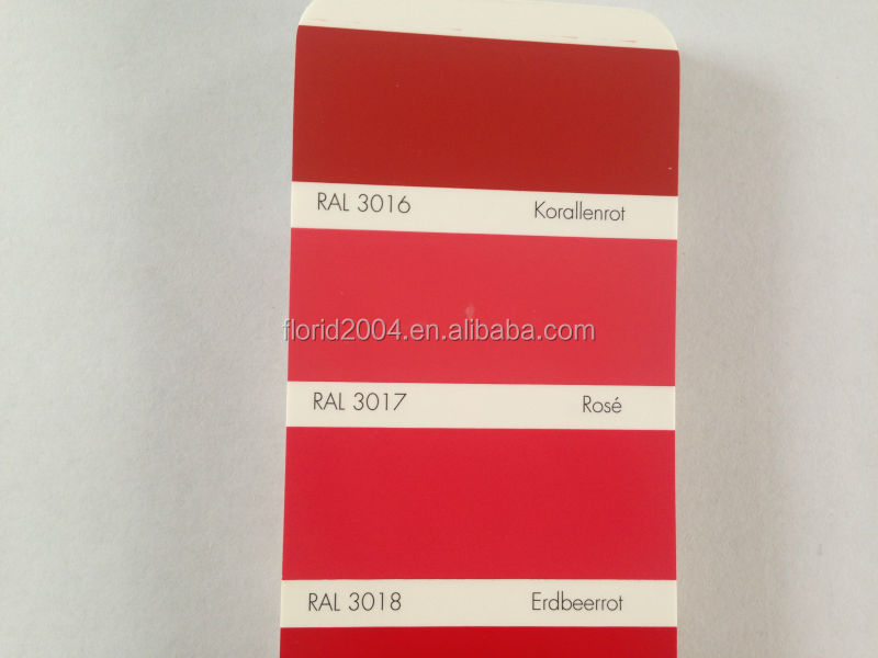 Powder Coating RAL3016 coral red RAL3017 Rose RAL 3018 strawberry red spray powder coating paint