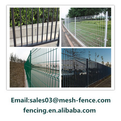 Europe standard PVC Coated 3D Curved Wire Mesh dog Fence