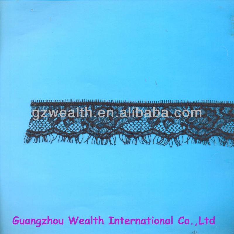 symmetrical Eyelash fashion bridal lace fabric wholesale for lady wedding