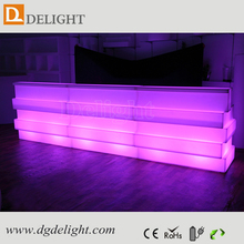 2016 New design bar counter furniture straight LED bar counter for hotel