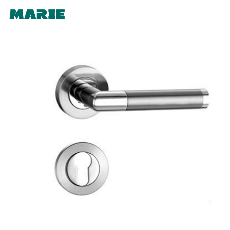 Reasonable Price Stainless Steel Tube Interior Lever wooden door handle