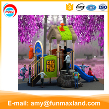 2016 New outdoor plastic cheap playground slide for children