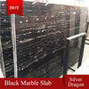 silver dragon marble, black marble tile with white veins