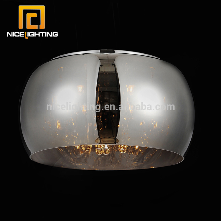 Glass shape pendant modern single clear crystal led ceiling lamp