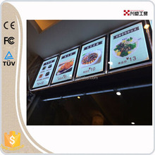 fast food menu board single side or double sides wall hanging restaurant fast food menu board