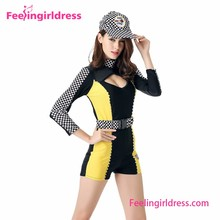 Unique Jumpsuit Checker Print Halloween Sports Wear Costumes