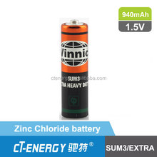 vinnic zinc choloride um3 r6 aa battery