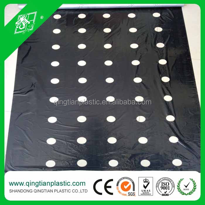 pe agricultural black and silver mulch film with holes