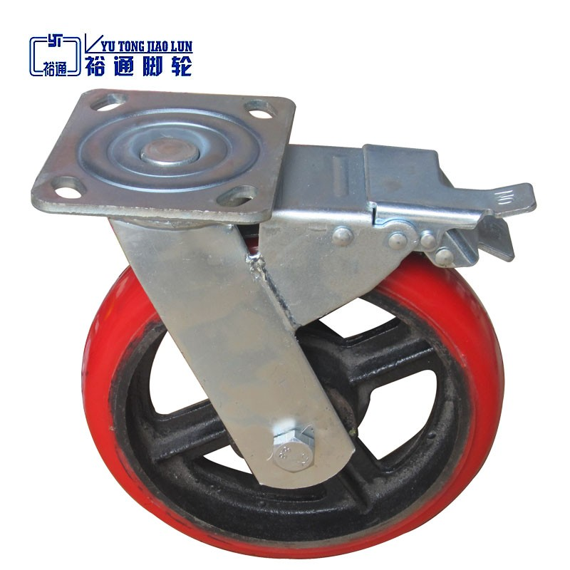 2016 high quality Yutong caster wheel with brake for shop cart or steel hand cart