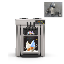 Air pump tabletop 3 flavor factory price mini soft ice cream marking machine