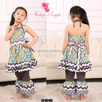 2016 new product Girl boutique clothing 100% cotton material and children age group