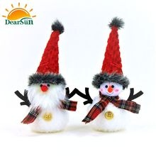Plush decoration christmas snowman christmas ornament