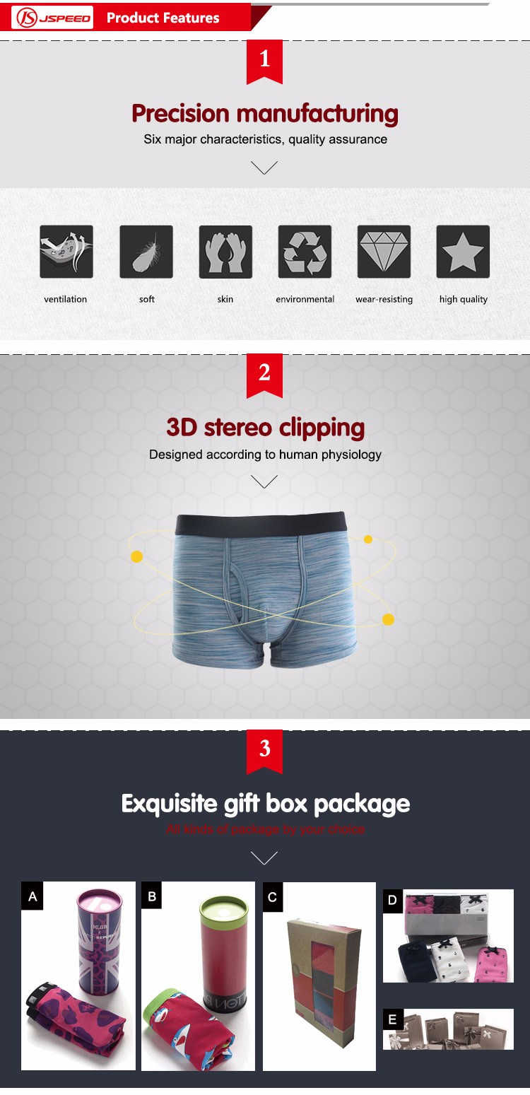Mens floral printing comfortable cotton boxer shorts OEM men underwear customized printing available