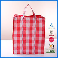 2015 recycled laminated pp woven bag with customized logo