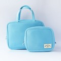China Promotion Blank Mesh Light Cosmetic Bag Two Set Toiletru Bag For Travel