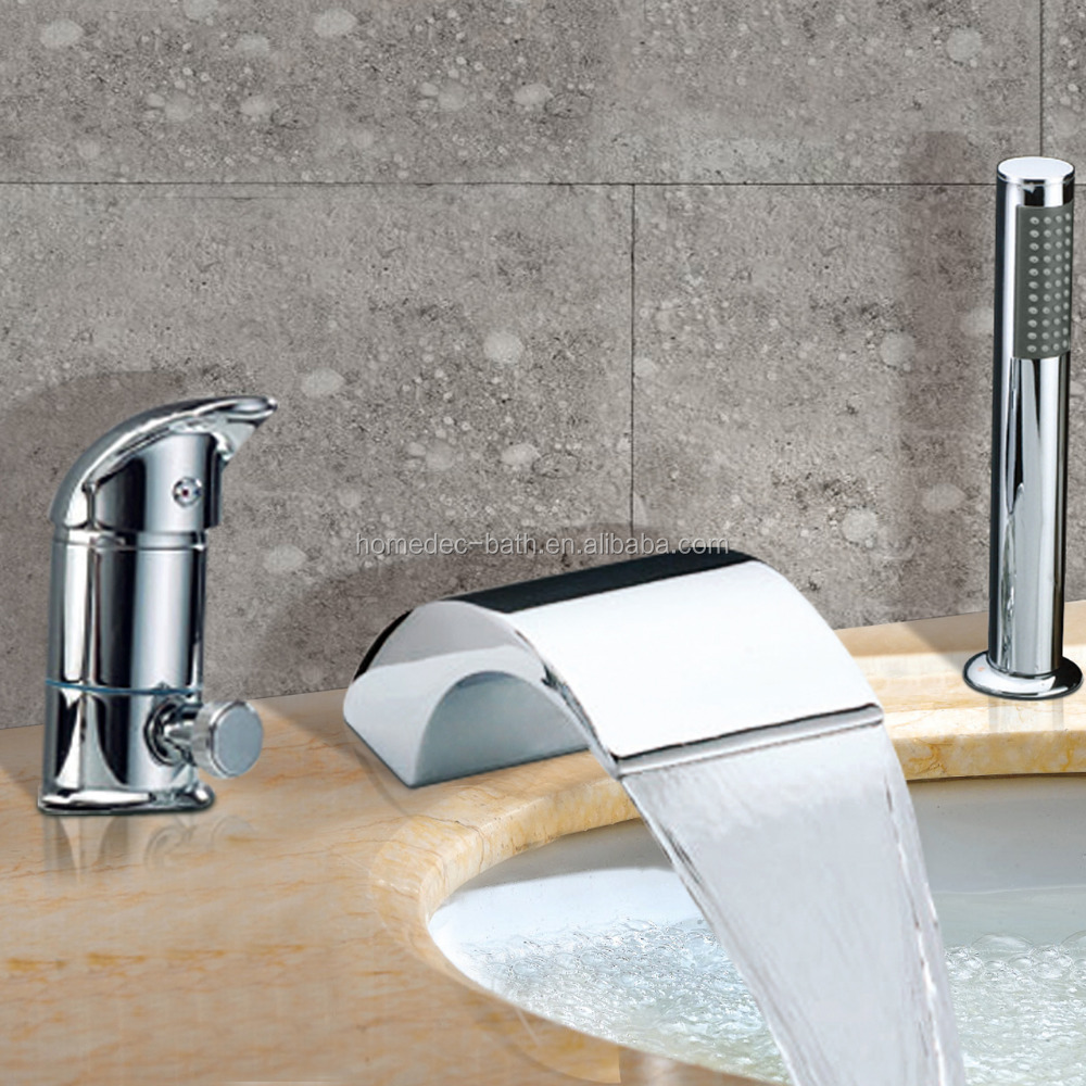 Bathtub Single Handle Faucet : Single Handle Thermostatic Hand Held Bathtub Faucet Contemporary ...