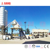 Business plan concrete mixer HZS75 from SANQGROUP 75m3/h Stationary Concrete Batching Plant,Concrete Plant For Sale
